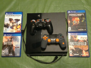 PS4 2 controllers, 4 games (console SOLD)
