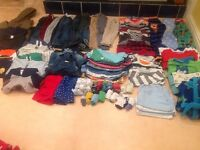 Boys large bundle of clothes 12 - 18 months over 50 items