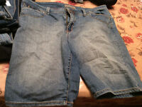 jeans, walking shorts,  size 16