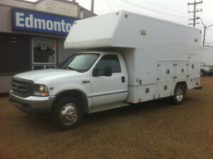 2004 FORD F-550 UTILITY 15FT CUBE VAN