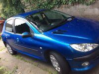 PEUGEOT 206s 1.4 2005 blue 5 door car