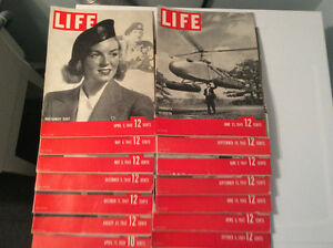15 Life Magazines From 1939, 1941, 1942 and 1943