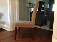Set of 4 Parson chairs in chenille fabric - excellent condition