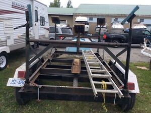 Tandem boat trailer and six pad cradle for sale