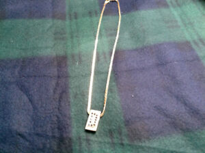 14k gold chain and pendant.