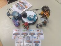 Skylander Giants DVD, portal and figures for sale.