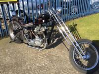 Custom Triumph T120 1967 hard Tail Chopper with Springer Front End
