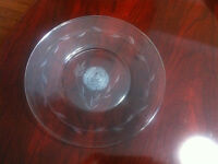 "6 Etched Clear 6"" Dessert / Side Plates"