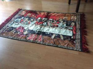 """""""LAST SUPPER"""" THEME CARPET DECOR FOR DINING ROOM"""