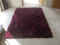 Luxury purple snug rug by NEXT.