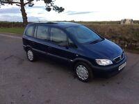 Vauxhall zafira 1.6 petrol 2004 7 seater