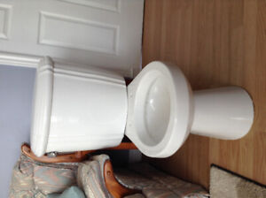 Toilet Bowl and Tank