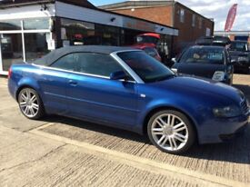 Delivery Available Stunning Audi A4 Sport 2.3 Petrol Automatic Convertible 2003 Full mot