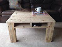 Handmade coffee side table pallet wood industrial loft modern unique