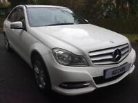 2013 Mercedes-Benz C220 2.1CDI Executive leather Auto fsh BUY FOR £45 PER WEEK