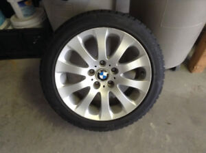 4 BMW rims with brand new winter tires