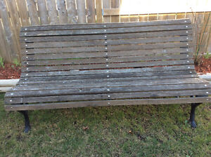 Reconditioned cast iron Garden Bench