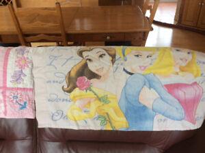 Literie pour fille de princesse Walt Disney