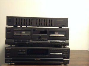 compaq disk changer;stereo cassette deck ;stereo graphic equaliz