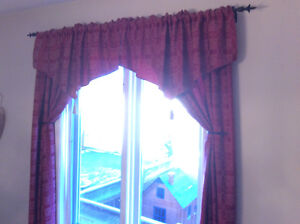 Curtains and topper