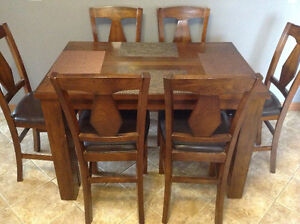 Solid wood counter height dinning set Windsor Region Ontario image 1