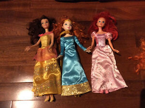 Disney princess barbies