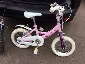 "12"" pink bike"