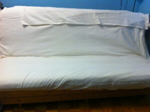Futon for sale -wood frame