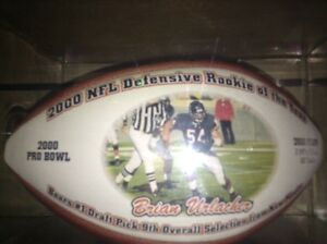 Brian Urlacher official NFL rookie of the year ball