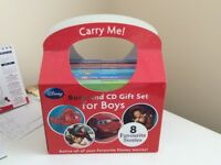 Disney Book And CD Gift Set For Boys In Carry Box