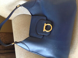 Salvatore Feragamo Hobo Bag in Navy Blue