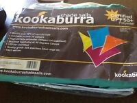 Kookaburra 3m triangle waterproof turquoise shade sail