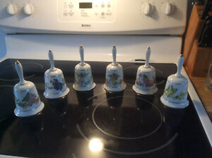 12 full set of Franklin Mint Fairy Flower bells