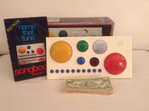 """Vintage 80's """"Name That Tune"""" Music Memory Game by Castle & Toy"""