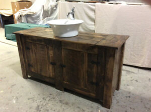 RECLAIMED WOOD BATHROOM VANITIES AND CABINETS