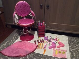 Our Generation Salon Chair and Accessories