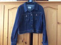 Red herring denim jacket