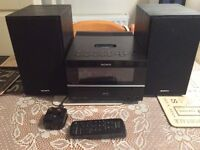 Sony home stereo mini system & speakers