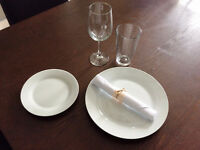 Place settings available for rent