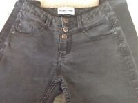 NEW LOOK High Waist Black Skinny Jeans Size 6