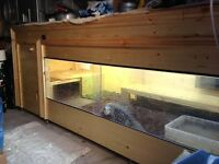 Wooden Vivarium 8ft X 4ft X 4ft