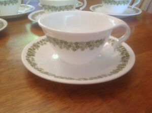Vintage Corelle Cups and Saucers