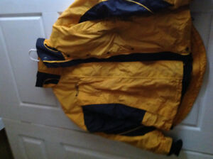 Bright Yellow Columbia Jacket