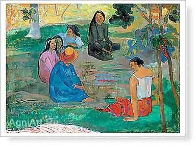 HERMITAGE MUSEUM Paul Gauguin. Les Parau Parau (Conversation) Fine Art Print NEW
