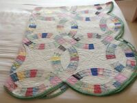 Vintage American Hand Made Patchwork Quilt