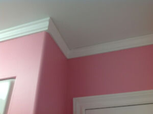 Door or window, crown moulding trim.