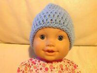 Baby Hat / Beanie 3-6 months in cloud blue