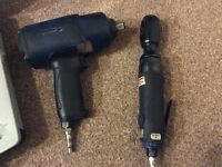 """Blue point(snap on) 1/2"""" impact gun and 3/8"""" air ratchet set"""