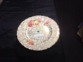 Staffordshire Celtic rose cake stand
