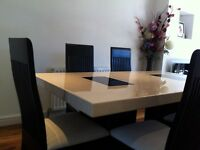 Marble Dining Table with 7 Chairs